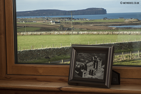 The view of The Castle of Mey from the Castle Suite