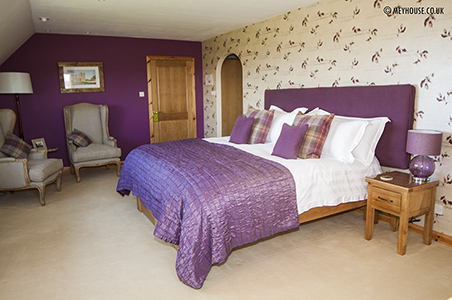 The impressive Castle Suite - with views of the Castle of Mey